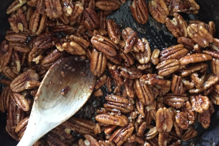 Spiced Maple Pecans