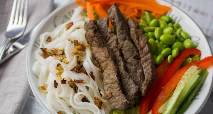 Asian Beef Noodle Bowl