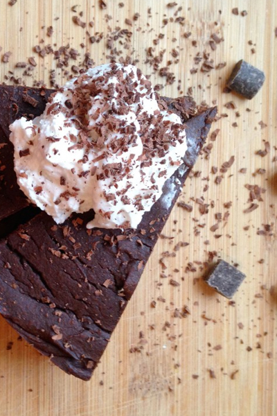 Triply Decadent Dark Chocolate Pumpkin Brownies